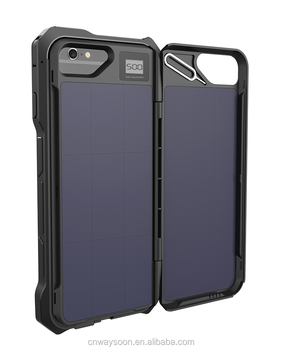 cellphone solar case for iphone 6 2500mAh extended battery pack