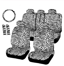 Breve Peluche di Lusso <span class=keywords><strong>Zebra</strong></span> Seat Covers Universale Dello Sterzo <span class=keywords><strong>Copertura</strong></span> Della Ruota di <span class=keywords><strong>Copertura</strong></span> Spalla Pad Bianco <span class=keywords><strong>Copertura</strong></span> di Sede