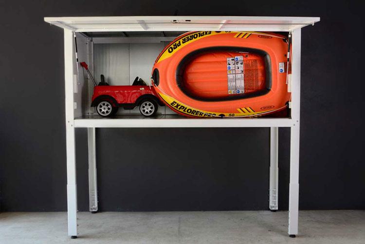 High quality custom over car bonnet storage garage cabinet