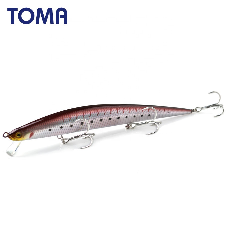 TOMA 175mm 27g large hard minnow plastic fishing lures wobbler floating artificial fish bait, 7colors