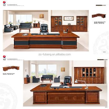 Commercial Furniture Unique MDF Partition Wood Luxury Fancy Office Table  Executive Ceo Desk Office Set Desk