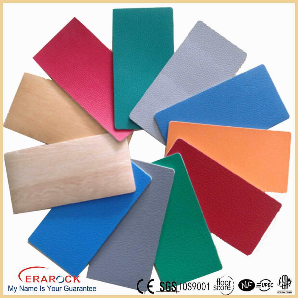 standard pvc plastic rolls antistatic uv resistant vinyl basketball badminton court sports flooring with marking lines