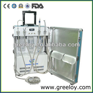 Self-contained Electric Mobile Portable Dental Unit with Handpiece Holder