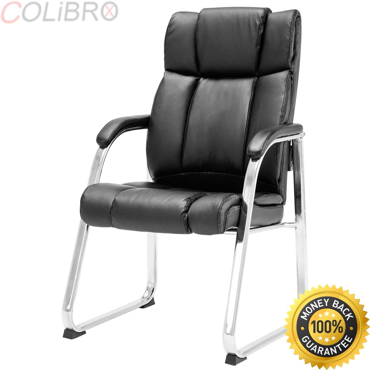 COLIBROX--Set of 2 PU Conference Chair High Back Reception Guest Office Lecture Exam Chair. office guest chairs. best waiting room chairs amazon. modern office guest chairs. stylish desk chair.