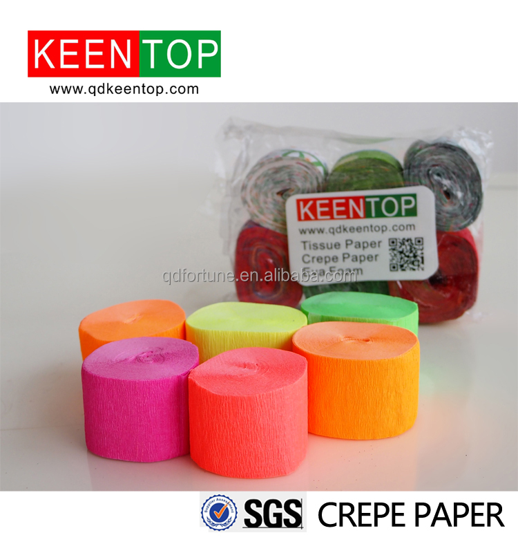 Craft fluoreszierendes Krepppapier, Neon-Krepppapier-Streamer für Party