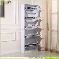 Hot cabinet shoe rack for hanging with fall prevention screws