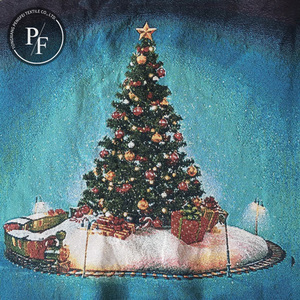 Decoration Supplies jacquard woven Christmas tree pillow xmas cushion