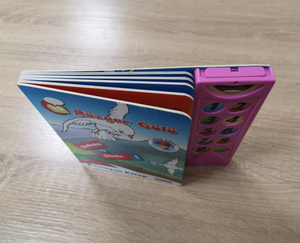 hardcover sound device kid's smusic book printing service