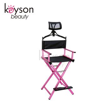 Keyson China Factory Professional Makeup Artist Directors Chair Light Weight with Headrest