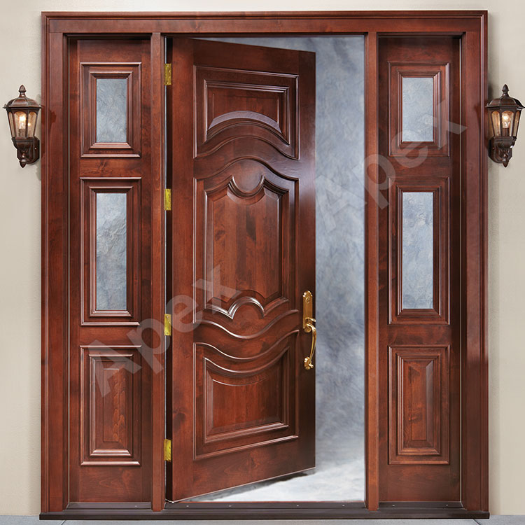 Mahogany Color White Oak Solid Wood Main Door Design