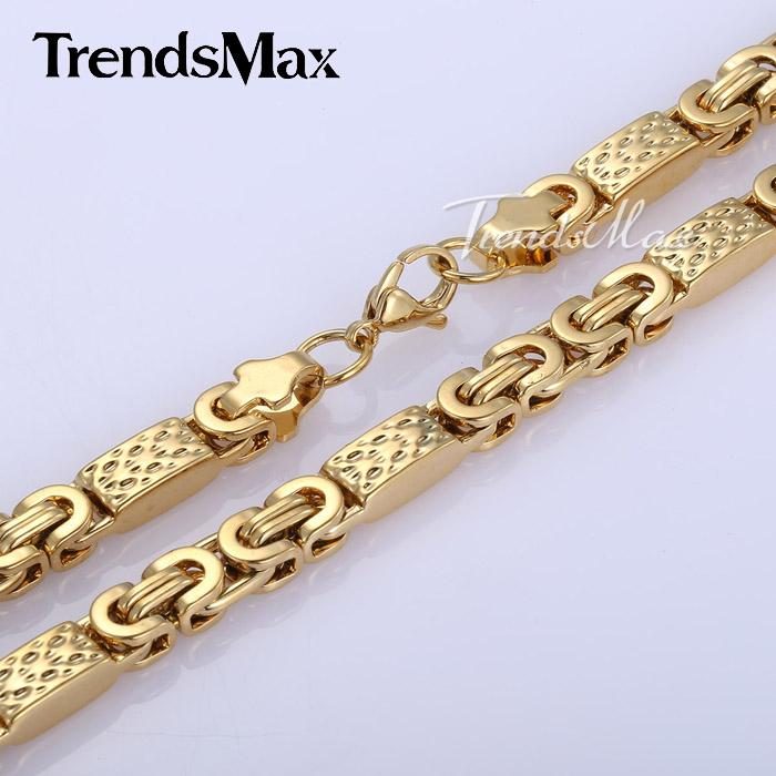 Mens Gold Byzantine Necklace: Gold Byzantine Bracelet