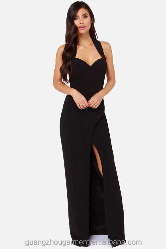 Women's Black Chiffon Dress