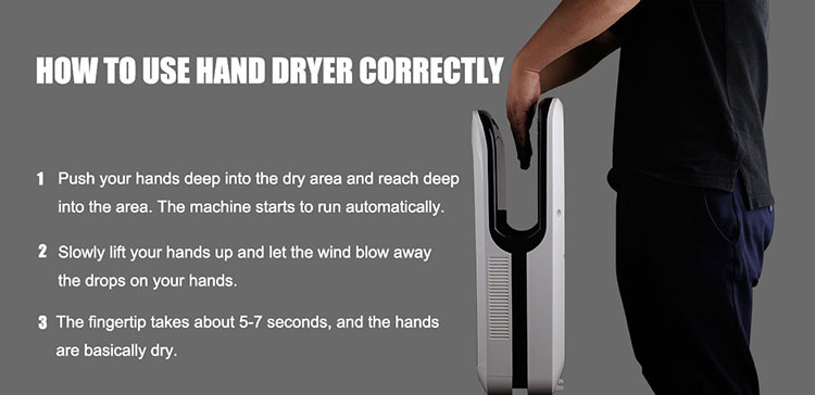 POWER lockable full induction high powerful fast automatic hand dryer with sensor