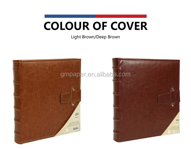 GuanMei PU Leather Cover album Book Bound Photo Album With buckle photo album