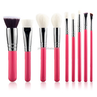 best price goat hair pink handle make up brush sets custom make-up brush
