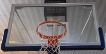 FIBA Standard Tamper Resistance Full Size Toughened Glass Basketball Backboard with Padding