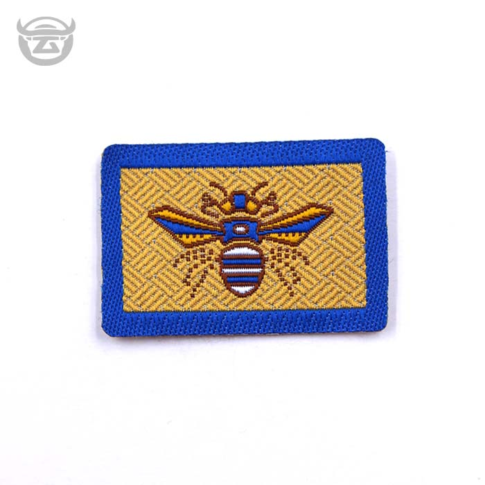 wholesale different bee embroidered woven labels for women' clothing