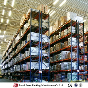 Economical industrial storage stacking steel 2 layers shelf pallet rack