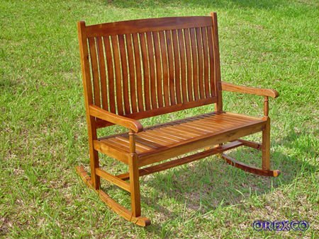 K.D. Traditional Double Porch Rocker furniture with Oil Finish