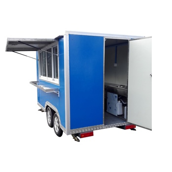 Factory price used food truck mobile fast food trailer for ice cream