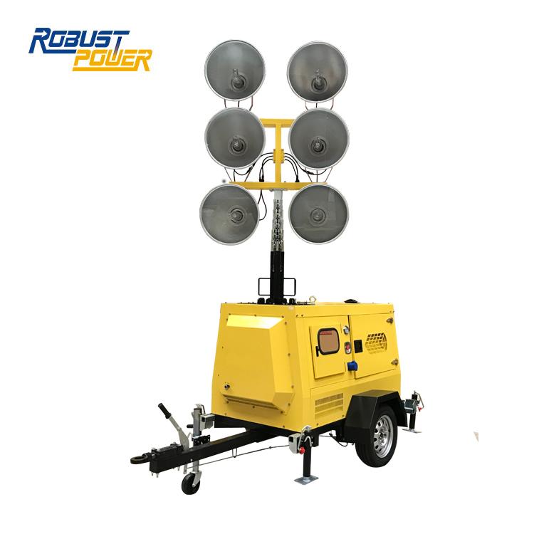 100L Fuel Capacity 7.2kw Diesel Generator Lighting Tower