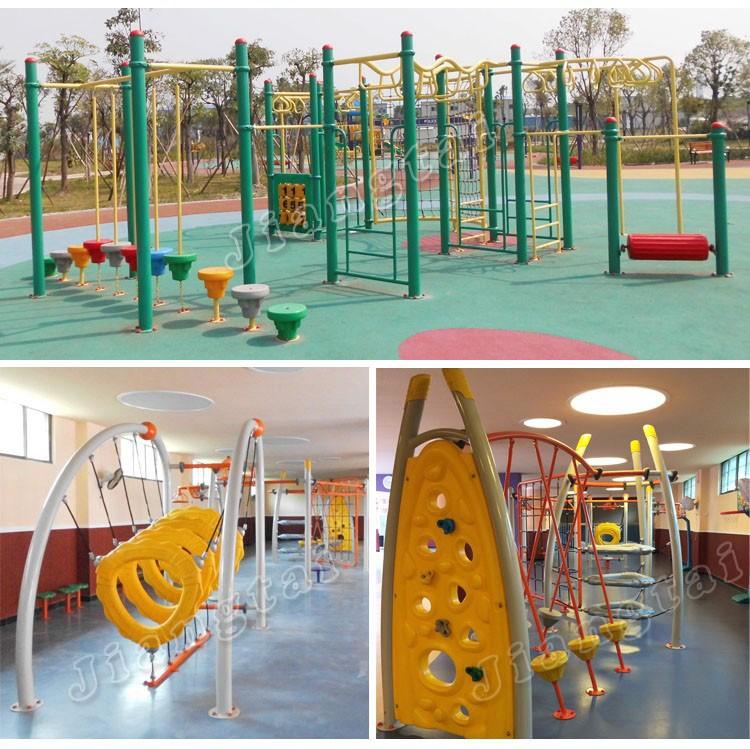 3 In 1 Spielplatz Kinder Im Freien Spielen Struktur Jt17-9001 Metall ...