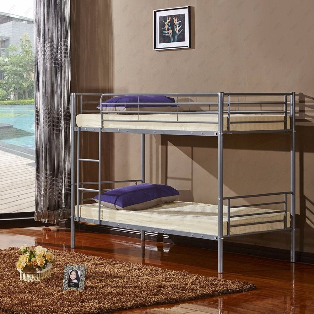 Steel double deck bed - Simple Design Strong Structure Double Decker Steel Beds