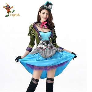 54dfa65d8248f adult women dresses for deluxe alice bookstory costume cosplay for mad  hatter costume PGWC0675