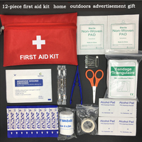 Outdoor travel 12-piece first aid kit vehicles with portable medical bag home first aid kit travel lifesaving