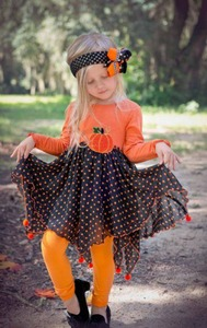 2017 Halloween Costume Boutique Girl Clothes Halloween Holiday Outfits Wholesale Children's Clothing USA