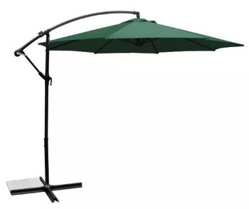 New In Box Sarasota Breeze 10FT OffSet Patio Umbrella (Dark Green)