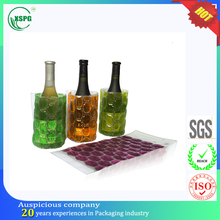PVC material beer cooler red wine plastic ice bag for KTV or Bar