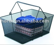 metal mesh 12 x 12 storage baskets