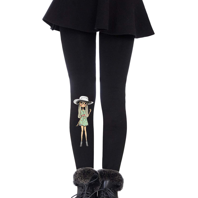 122c7376208 Get Quotations · Weigou Girls Leggings Pants Winter Warm Plus Velvet Thick  Kids Elastic Leggins