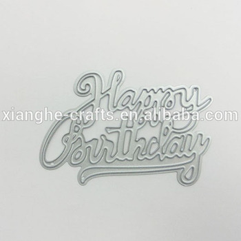 happy birthday metal word personalized letter stencil craft cutting dies scrapbooking manufacturers