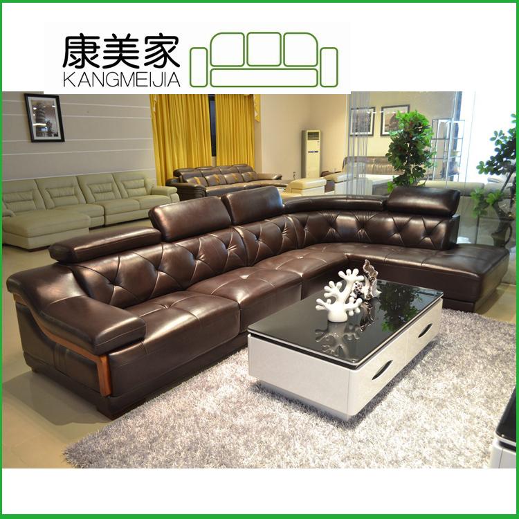 hot offer leather modern corner sofa 2730#-in Living Room