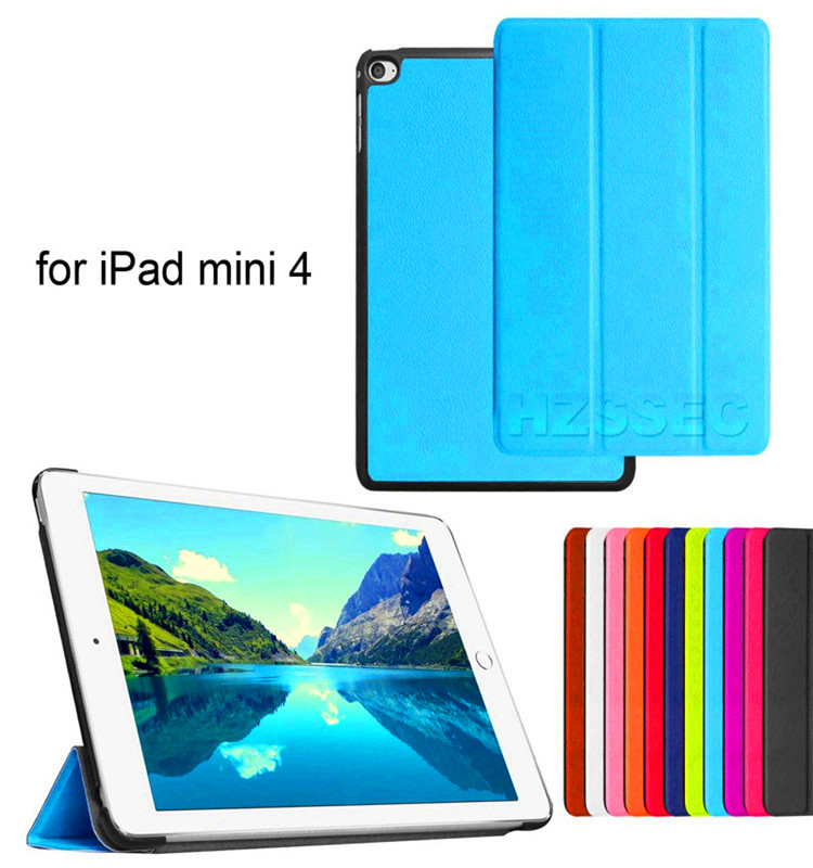 360 Degree Rotating Shockproof Case for Ipad Mini 4 7.9inch (Sky Blue) Stand Leather Tablet Cover