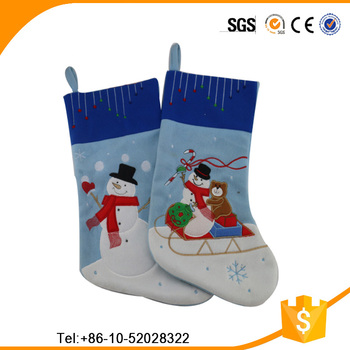 2016 hot sale christmas stocking hanging on the wall for Christmas decoration sales 2016