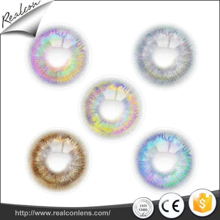 Meilleur rio 7 Tons couleur Asphérique Spéciale Lentilles de Contact Offre Spéciale 7 couleurs