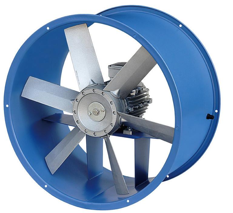 High Temp Inline Fans : High temperature fire smoke exhaust fan axial flow
