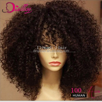alibaba hair extentionsafro kinky curly half wig full lace