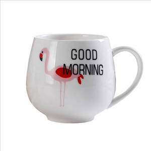 White Porcelain Handmade High quality 400ml 16OZ porcelain tea coffee cup ceramic mug with customized logo