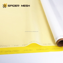 high tension white yellow 90 / 230 48 monofilament polyester silk screen printing mesh