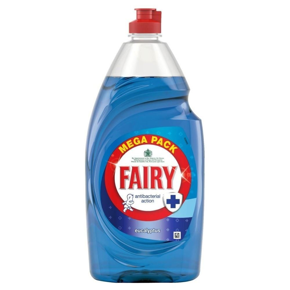 Fairy Antibacterial Washing Up Liquid Eucalyptus (870ml) - Pack of 6