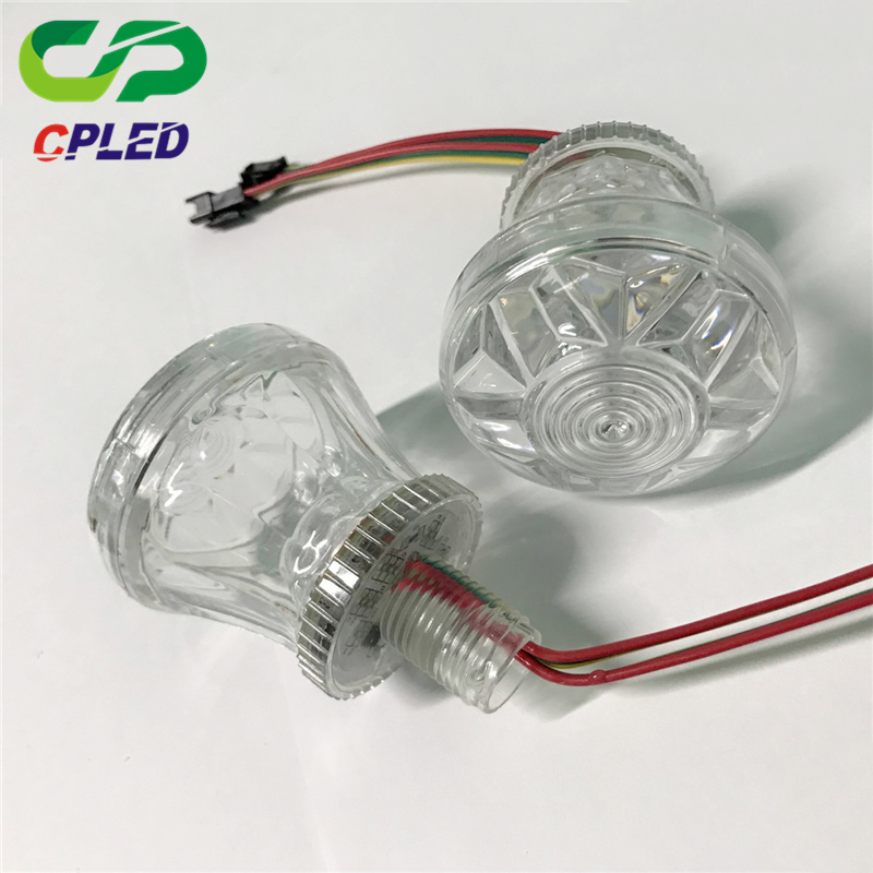 Hot Sale Programmable Pixel Bulb Light 24v Round Amusement Color-Changing 4.32w SMD RGB LED Point Light
