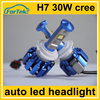 OEM car replacement led headlight conversion kit H7 30w cree