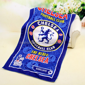 Custom sports team excellent water absorprion microfiber reactive printed bath towel