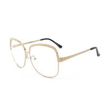 ROYAL GIRL 2020, Женские оправы для очков, Ретро стиль, большие размеры, металлическая оправа, прозрачные линзы, круглые классические очки, очки SS340(Китай)