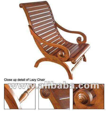 Caoba silla perezosa sillas para la sala de estar for Sillas para la sala