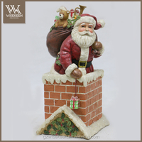 Vintage Santa Figurine in paper mache for Christmas decoration